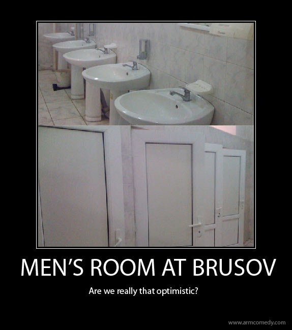 Brusov, girls, men, toilet